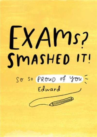 Exams Smashed It Typographic Card