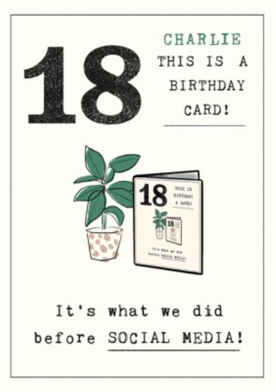 Funny Illustrative 'This is a Birthday Card' 18th Birthday Card