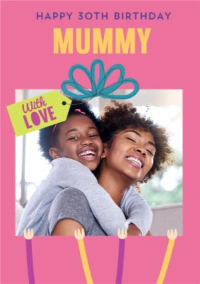 Pigment Photo Upload Mummy With Love Birthday Card