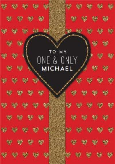 Pigment Glitter Hearts My One And Only Anniversary Card