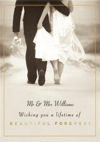 Pigment Lifetime Of Beautiful Forevers Photographic Wedding Card