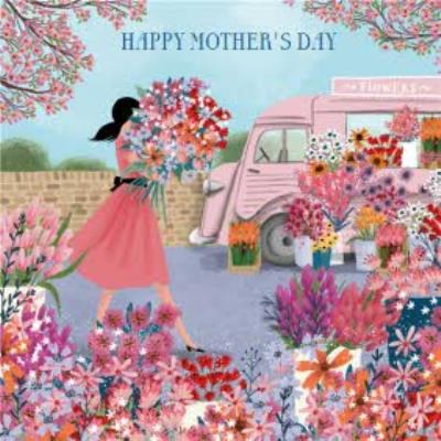 Pigment Traditional Flower Illustration Mother's Day Card