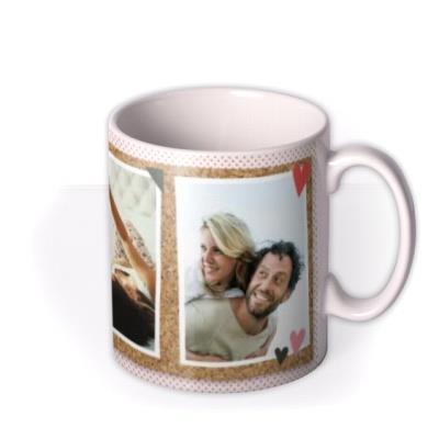Cork Board Background Happy Valentine's Day Mug