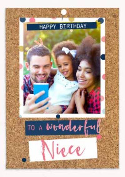 Wonderful Niece Photo Upload Birthday Card