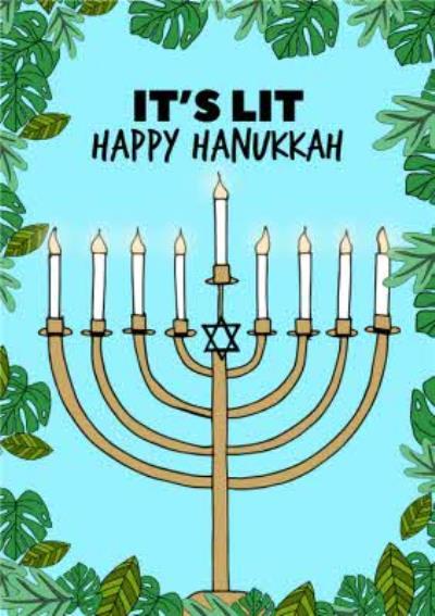It's Lit Happy Hanukkah Card