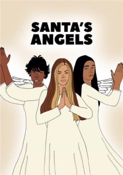 Sanata's Angels Christmas Music Card