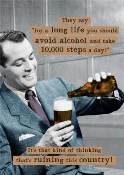 10000 Steps Ruining This Country Funny Card