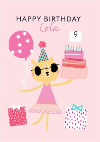 Party Oclock Personalised 9Th Birthday Card