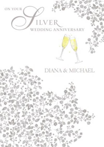 Anniversary Card - Silver Wedding Anniversary
