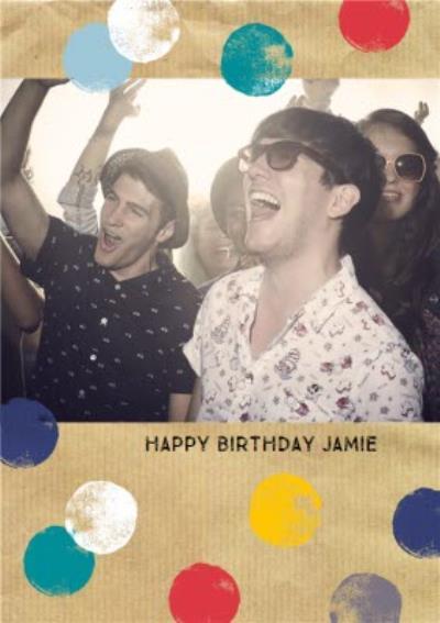 Happy Birthday Photo Upload Postcard