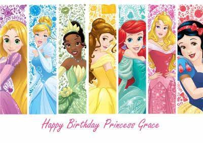 Disney Princess Birthday Card