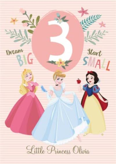 Disney Princess 3Rd Birthday Card