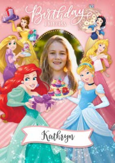 Disney Birthday Princess Photo Upload Card