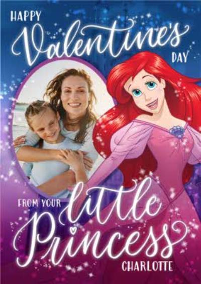 Disney Princess Ariel From The Kids Valentine's Day Photo Card