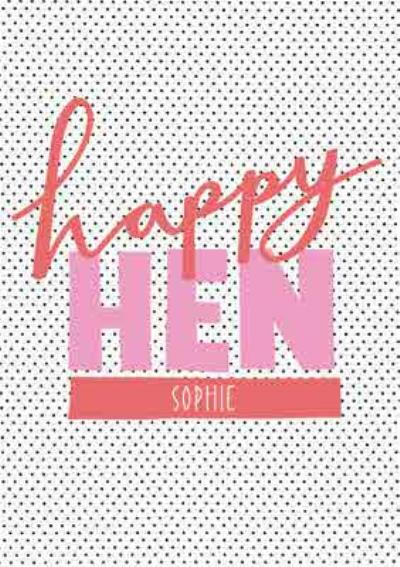 Polka Dot Graphic Hen Party Personalised Card