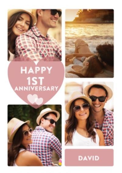 1st Anniversary Photo Upload Postcard