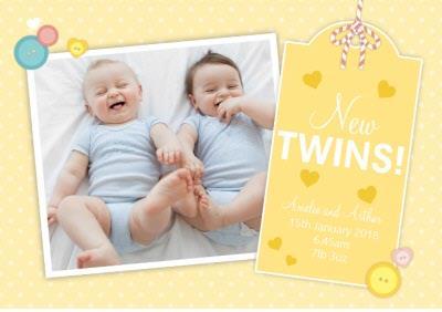 Photo Upload card - New Twins