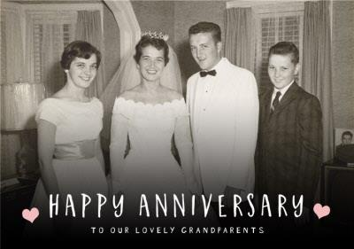 Happy Anniversary photo upload Card To our lovely Grandparents