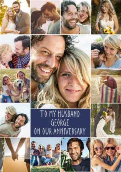 Happy Anniversary photo upload Card To my Husband
