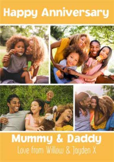 Mummy & Daddy Photo Upload Anniversary Card