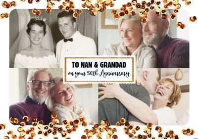 50th Anniversary Photo Upload Card For Nan And Grandad