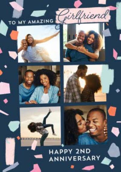 Annniversary photo upload Card To My Amazing Girlfriend