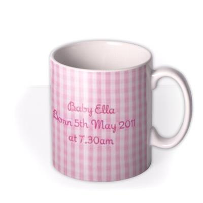 Baby Girl Photo Upload Mug