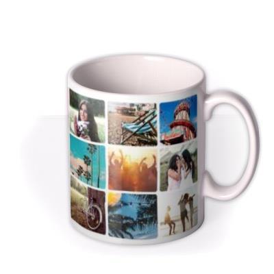 18 Photo Grid Photo Upload Mug