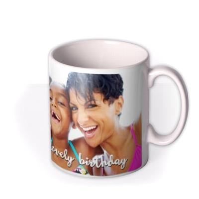 Long Photo Upload and Personalised Text Mug