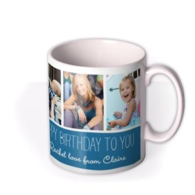 Six Picture Photo Upload and Personalised Text Mug