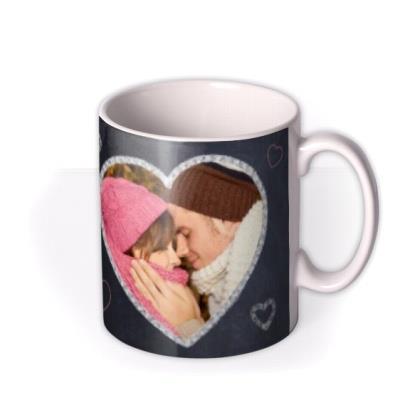 Chalkboard and Love Heart Photo Upload Mug