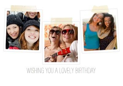 Instant Photo frame Birthday Card For Sister