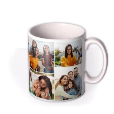 Happy Birthday Grey 7 Photo Upload Mug