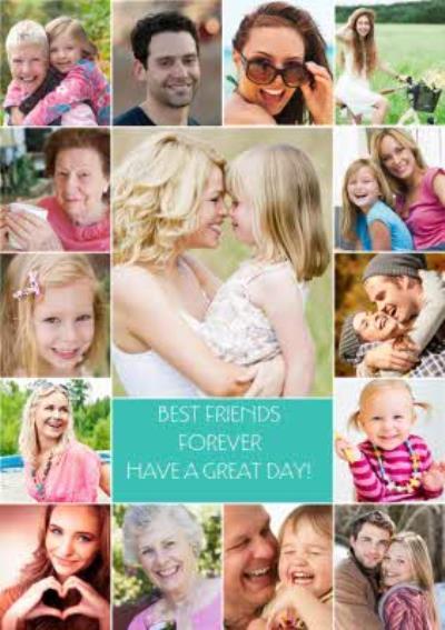 Personalised 15 Photos Birthday Postcard