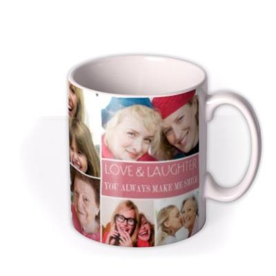 Happy Birthday Pink 9 Photo Upload Mug