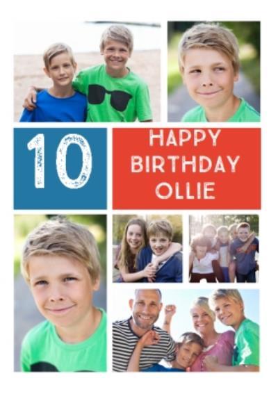 Photo Brother's Birthday Card