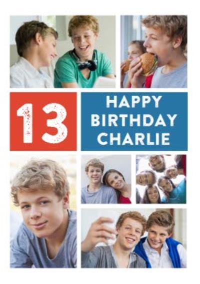 Photo 13th Birthday Card