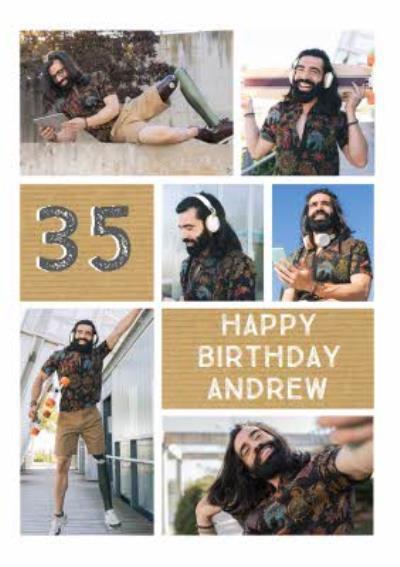 Birthday Card - Photo Upload Age Card
