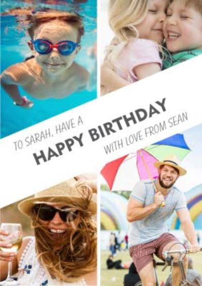 Personalised Birthday Card - Photo Upload Card - Use Your Own Photos To Make Perfect Birthday Cards