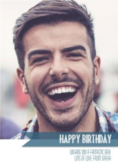 Photo Birthday Card - Use your own photos to create a personalised greeting card