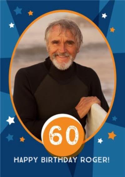 Stars 60Th Birthday Photo Card