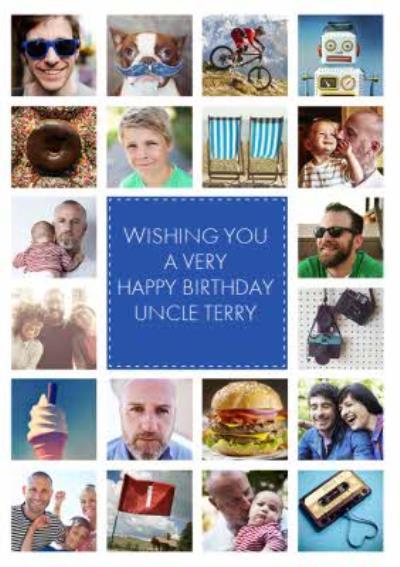 Multi Photo Upload Uncle Birthday Card