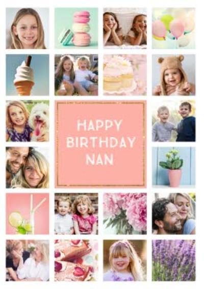 Birthday Card - Photo Upload Card - 20 Photos - Nan
