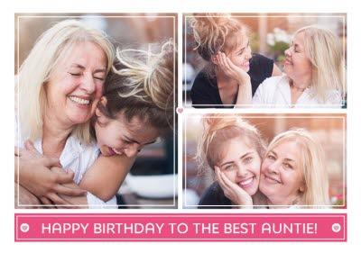 Birthday Card - Photo Upload Card - The Best Auntie
