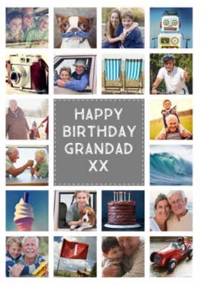 Multi Photo Upload Birthday Card For Grandad