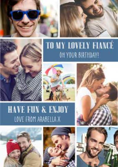 Lovely Fiancé Birthday Photo Upload Card