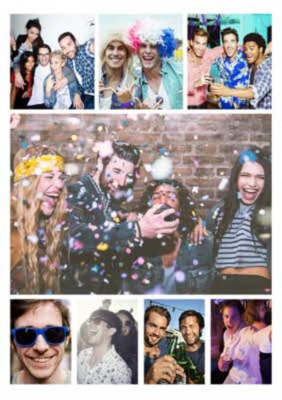 8 Photo Upload personalised Friend Postcard