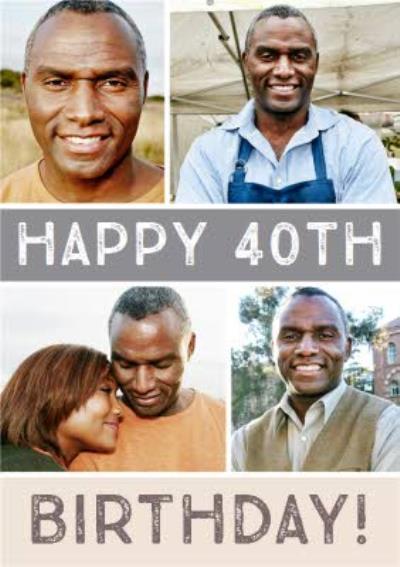 Multiple Photo Upload 40th Birthday Card