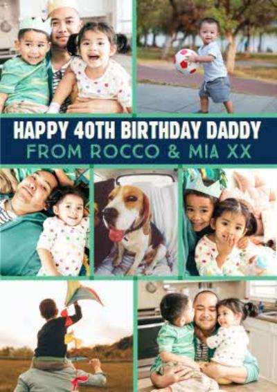 Photo Upload Personalised Age Dad Birthday Card