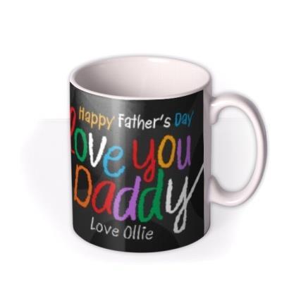 Father's Day Dad Crayon Photo Upload Mug